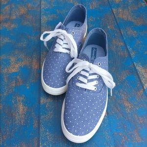🦅 American Eagle polka dot blue shoes